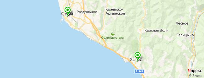 школа плавания на карте Сочи