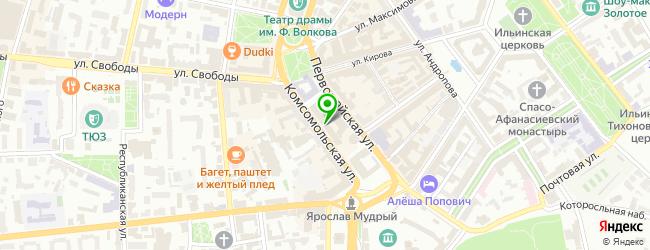 Яркартридж — схема проезда на карте