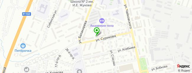 Частный детский сад Абрикосик — схема проезда на карте