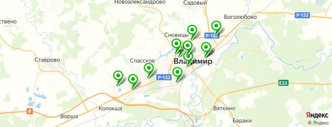 автопрокат на карте Владимира