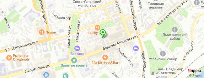Кафе Метелица — схема проезда на карте