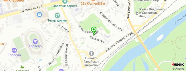 Частный детский сад Василёк — схема проезда на карте
