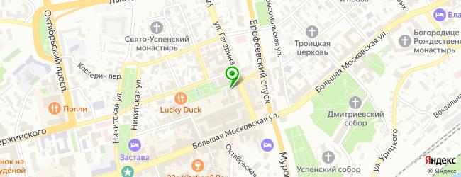 Кафе Гагарин — схема проезда на карте