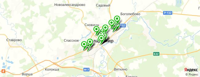 служба доставки еды на карте Владимира