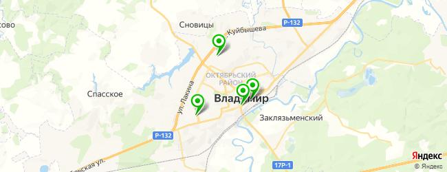 парковка на карте Владимира