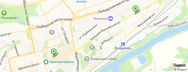 кафетерий на карте Владимира
