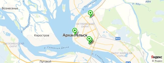 медицинские колледжи на карте Архангельска