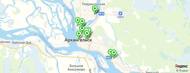 спортивные школы на карте Архангельска