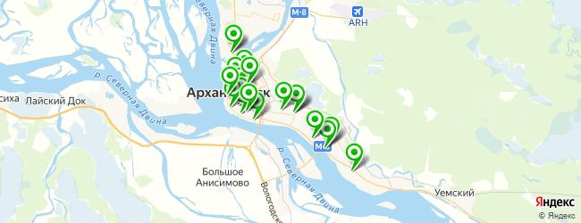 женский фитнес-клуб на карте Архангельска