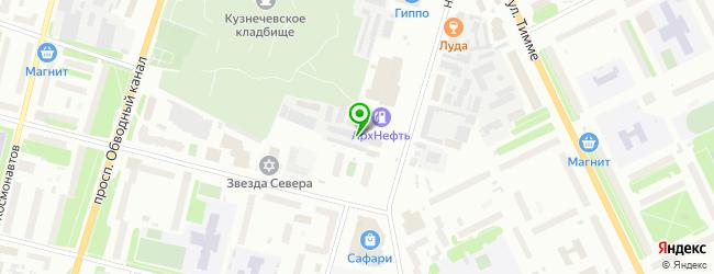 Шиномонтаж — схема проезда на карте