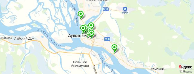 боди-арт салон на карте Архангельска