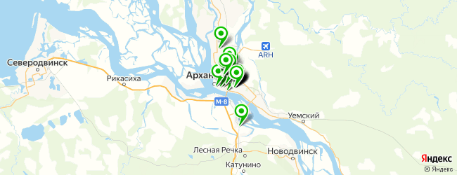 магазин автоаксессуаров на карте Архангельска