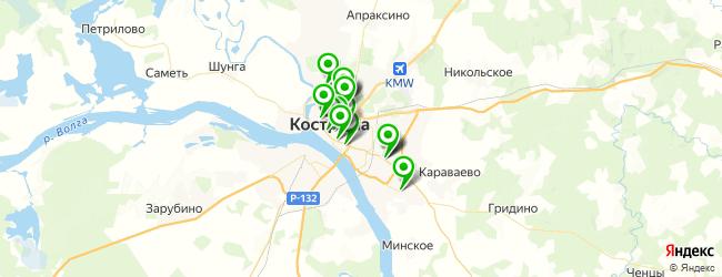 колледжи на карте Костромы