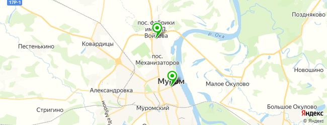 кафе на карте Мурома