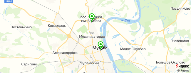 спорт-бар на карте Мурома