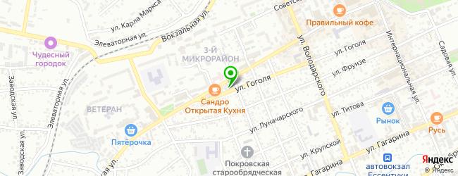 Кафетерий За Углом — схема проезда на карте