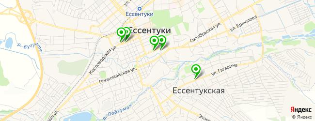 кафетерий на карте Ессентуков