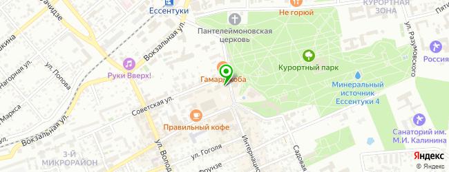 Кофейня Паваротти — схема проезда на карте