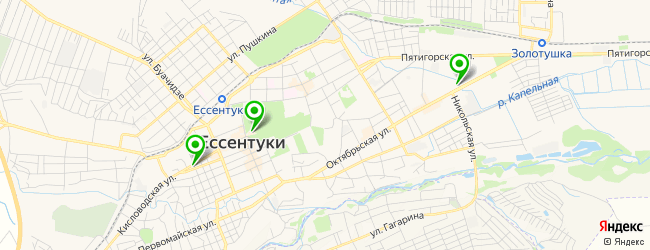 кинотеатр на карте Ессентуков