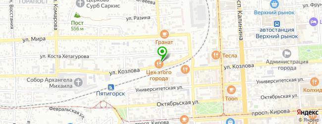 Ресторан-бар Soho lounge — схема проезда на карте