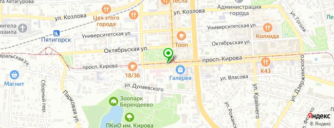 Кафе Five hills — схема проезда на карте