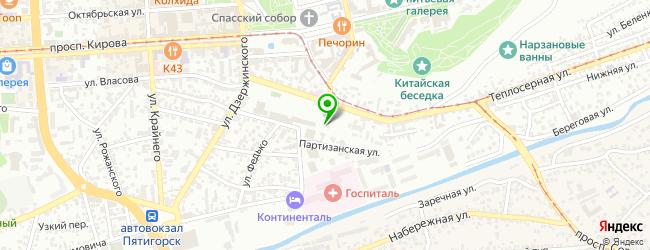 Кафе Кавказский дворик — схема проезда на карте