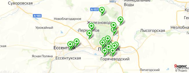 спорт-бар на карте Пятигорска