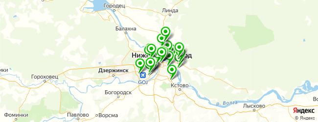 дома культуры на карте Нижнего Новгорода