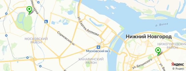 театр оперы и балета на карте Нижнего Новгорода