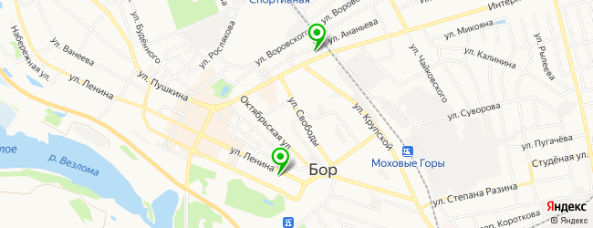мотосалон на карте Бора