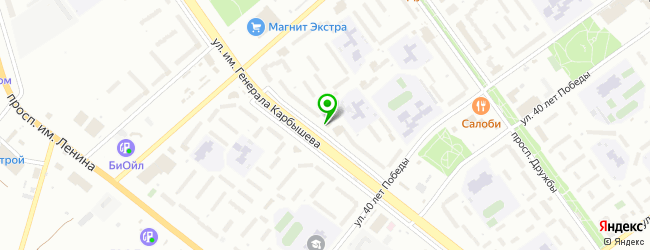 сэндвич-бар на карте Волжского