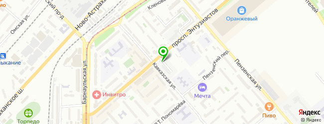 Кафе Колибри — схема проезда на карте
