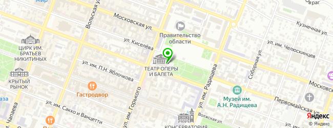 театр оперы и балета на карте Саратова