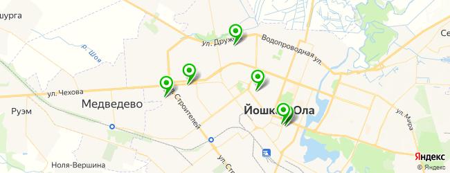 академии на карте Йошкар-Олы