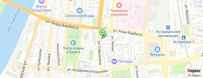 Ремонтная мастерская Gsm Service Астрахань — схема проезда на карте