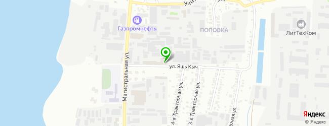 Сервис-центр КазРемСервис — схема проезда на карте
