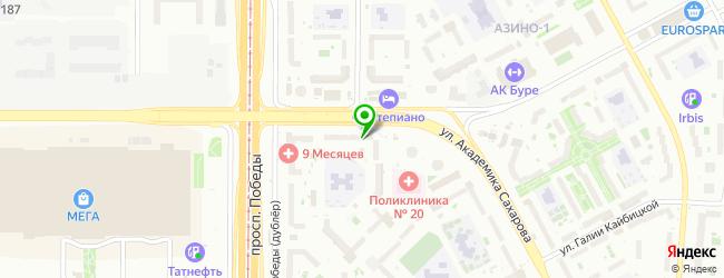 Сервисная компания quickSupport Казань — схема проезда на карте