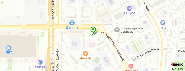 Сервисный центр Сахарова на улице Академика Сахарова — схема проезда на карте