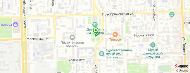 боди-арт салон на карте Кирова