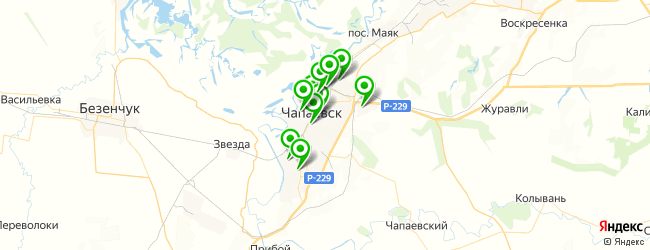 начальные школы на карте Чапаевска