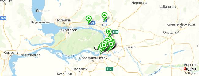 взрослые поликлиники на карте Самары