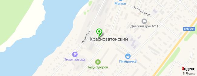 гранитная мастерская на карте Краснозатонского