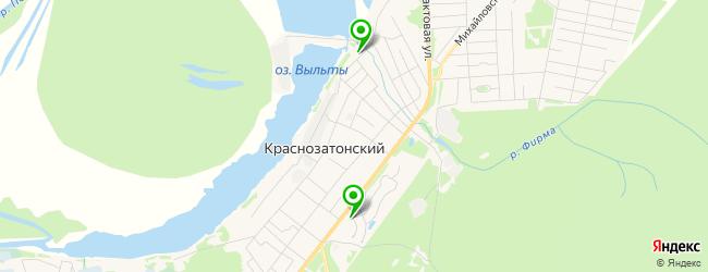 кафе на карте Краснозатонского