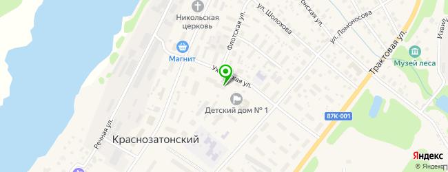 общежития на карте Краснозатонского