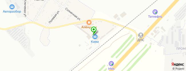 Авторынок Кама — схема проезда на карте
