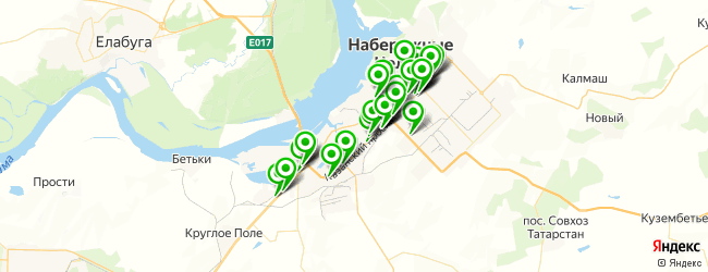 автосалон на карте Набережных Челнов