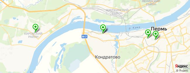парковка на карте Перми