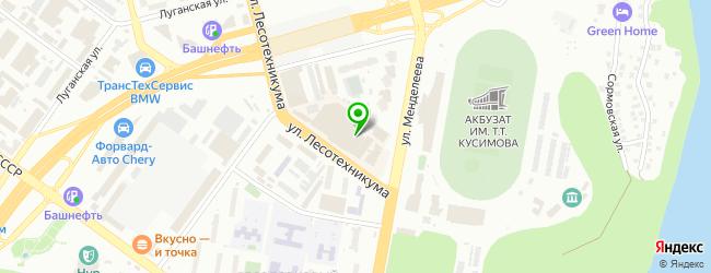 АвтоТюнингУфа — схема проезда на карте