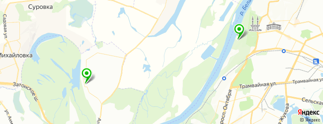 аэродинамическая труба на карте Уфы