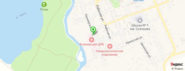 детские поликлиники на карте Агаповки